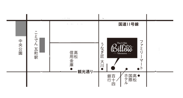Billow Takamatsu Map